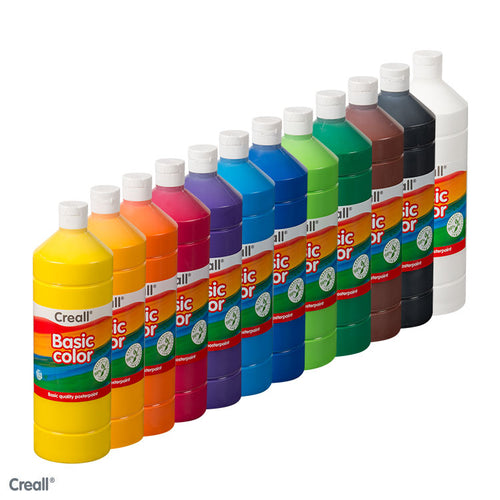 CREALL Quality  Poster Paint 1L - Mixed Box -12