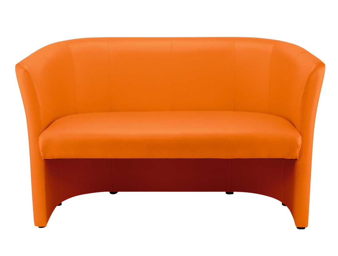 2 seater Tub Sofa - Orange