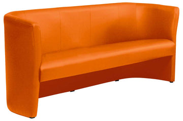 3 seater Tub Sofa-Orange