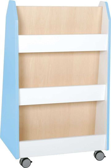 Quadro - doublesided library stand - light blue