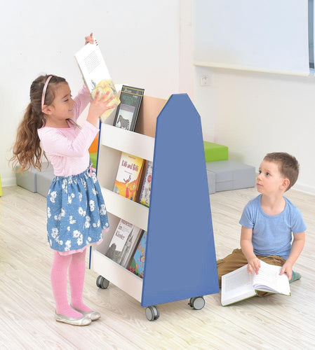 Quadro - doublesided library stand - blue