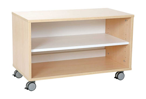 Quadro cabinet with 1 shelf on Castors