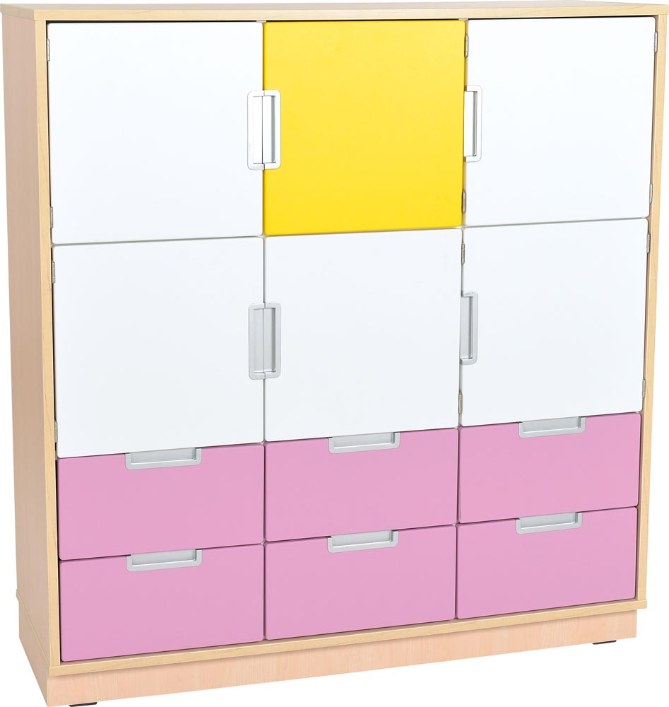 Quadro L Cabinet with 9 compartments