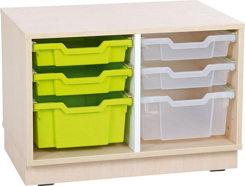 Quadro S Cabinet for plastic containers with 1 partition