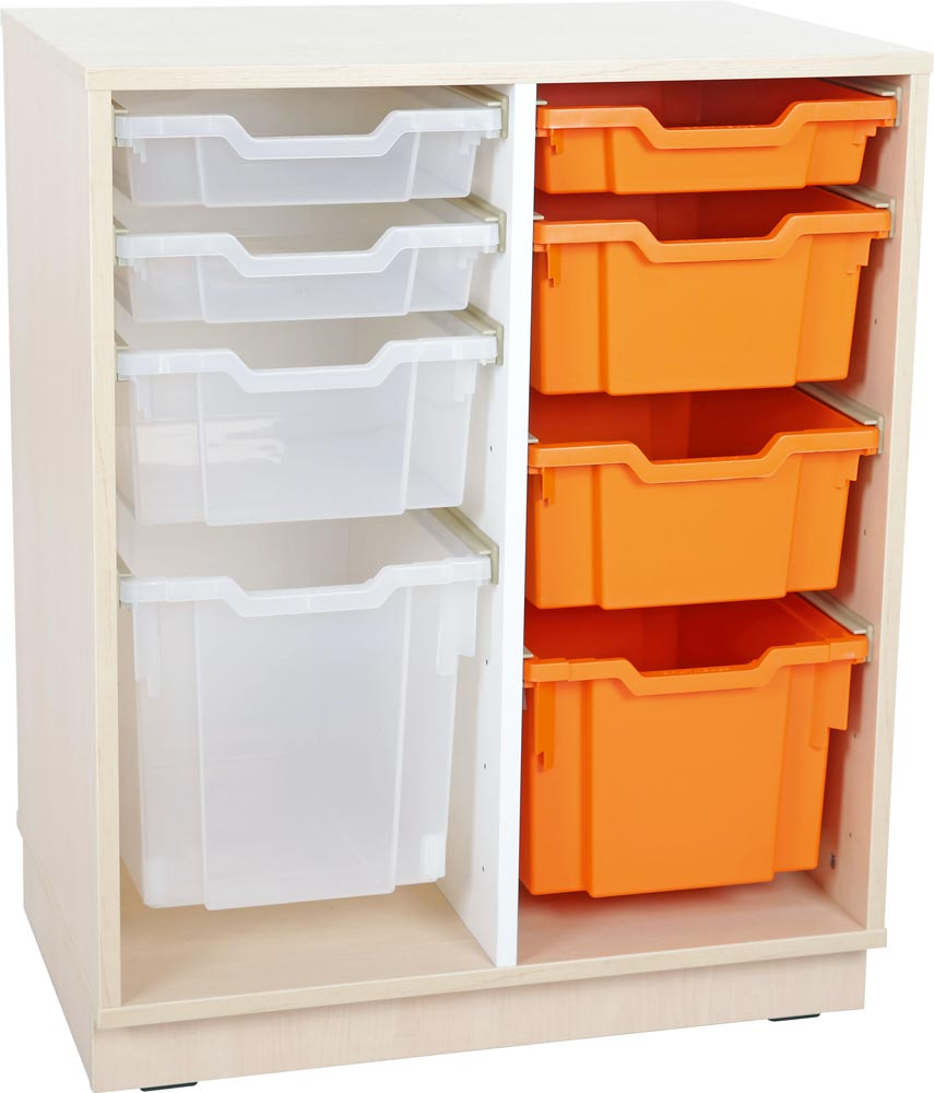 M Cabinet for plastic containers with 1 partition