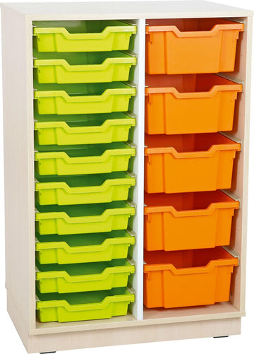 L Cabinet for plastic containers with 1 partition