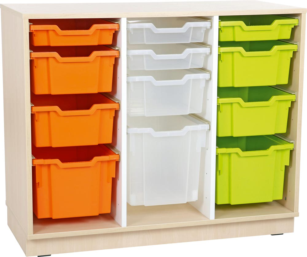 M Cabinet for plastic containers with 2 partitions