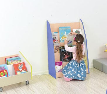Quadro - one-sided library stand - blue