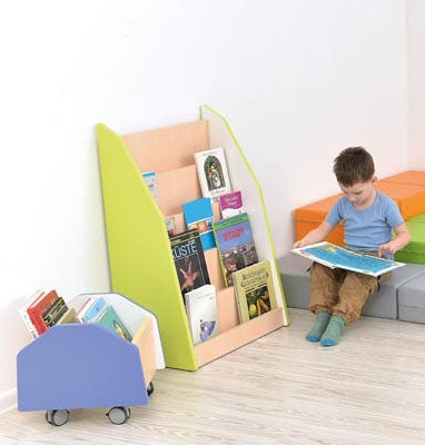 Quadro - one-sided library stand - lime