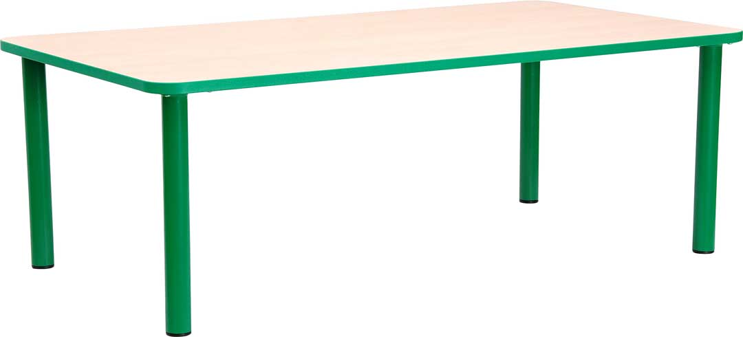 Steel  Rectangular Table 53cm - All Colours