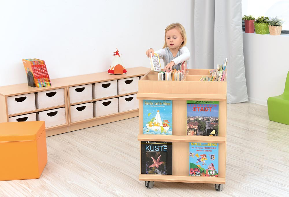 Bookcase Flexi with Wheels