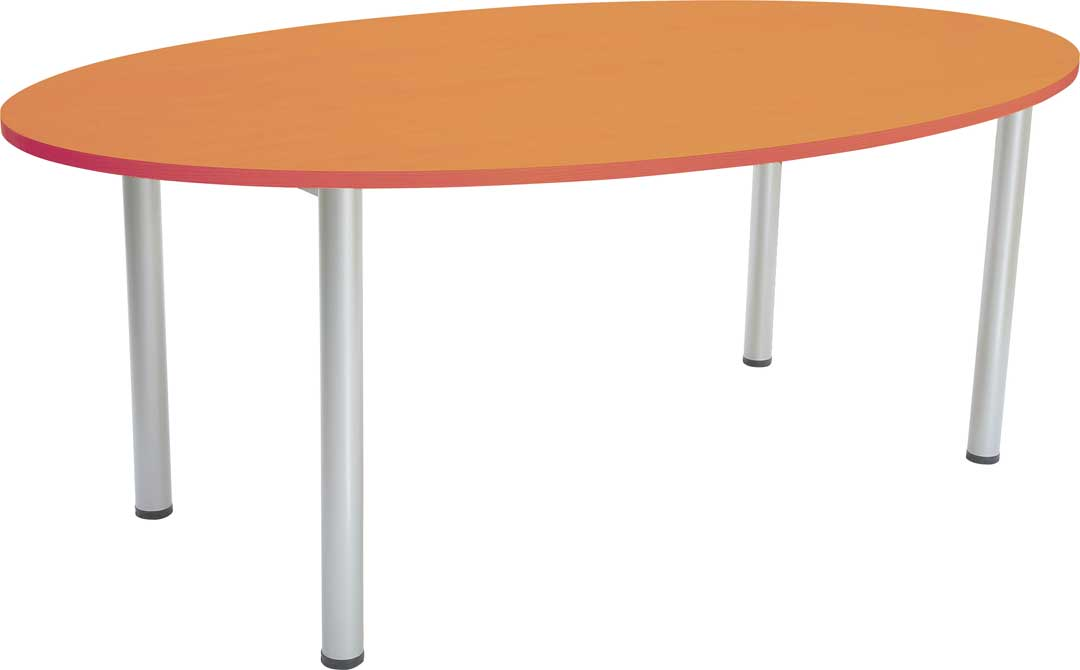 Oval Staffroom Table in Beech