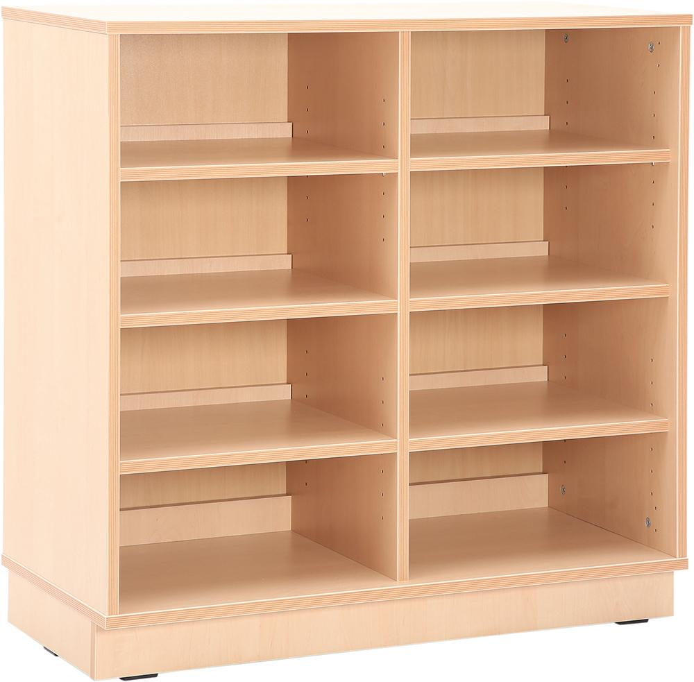 Medium Cabinet with 3 shelves and partition with plinth H87cm