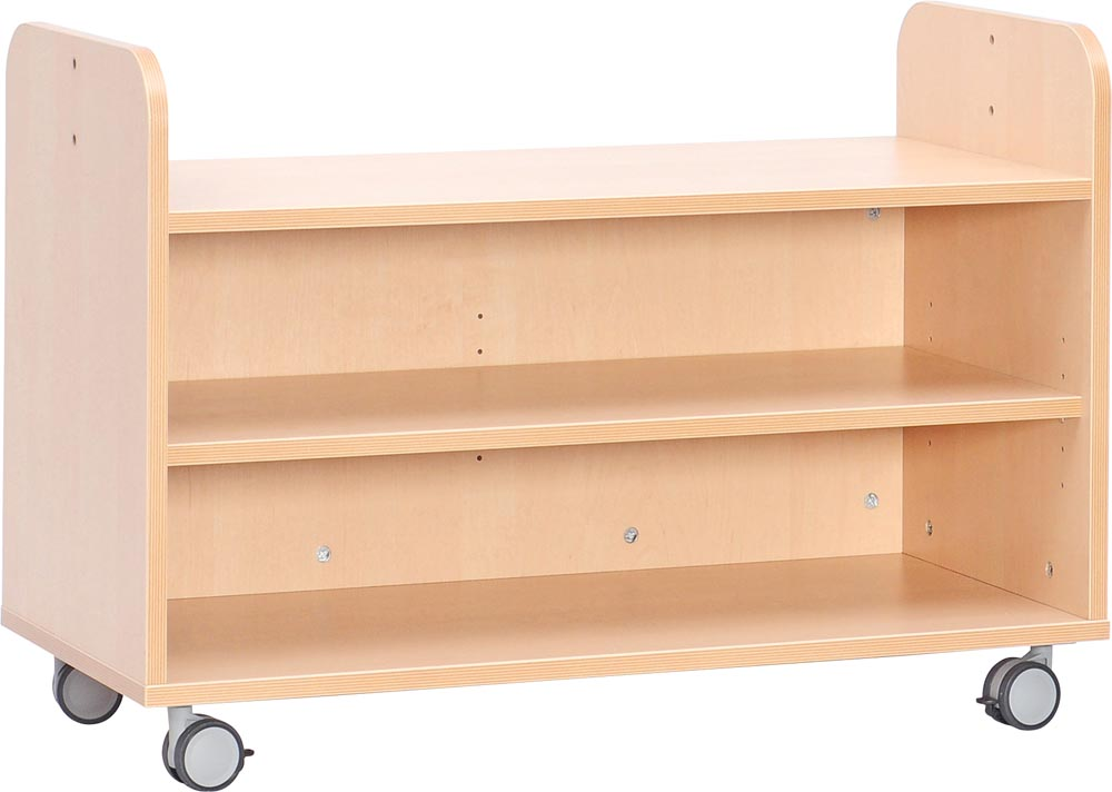 Movable S cabinet with shelf for corners