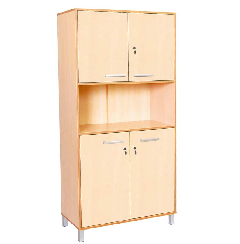 Classic High Cabinet with Birch Doors and Locks