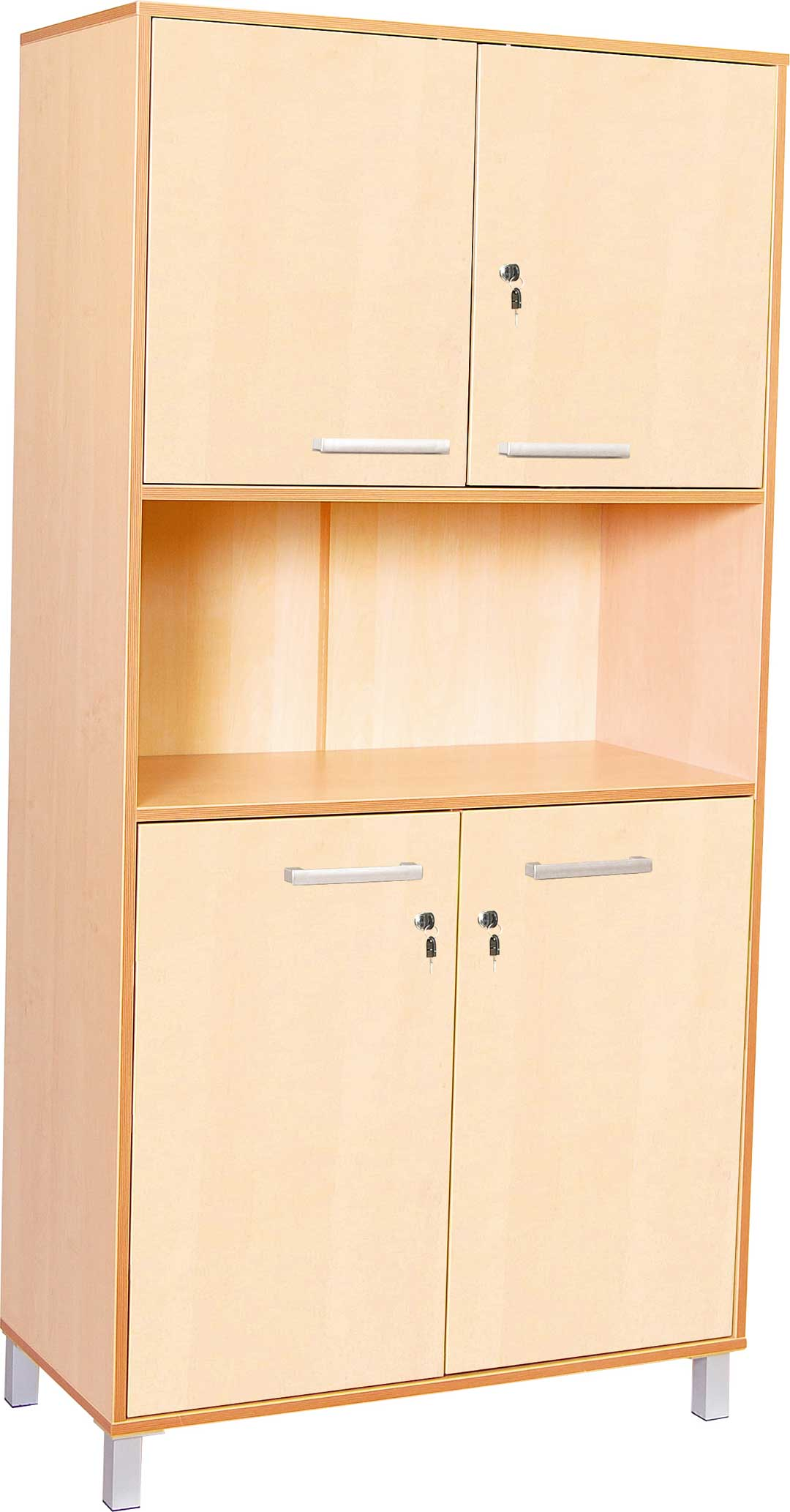 Classic High Cabinet with doors and locks - Birch Doors