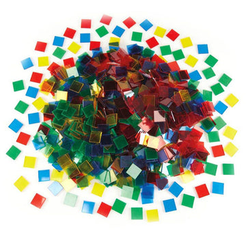 Coloured Translucent Plastic Tiles 1000pcs