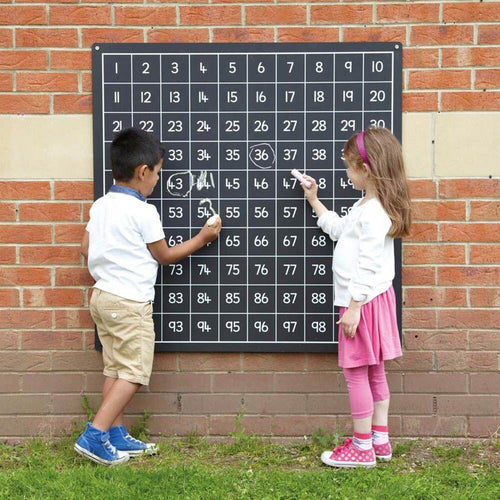Outdoor Ascending Hundred Square Chalkboard 1-100