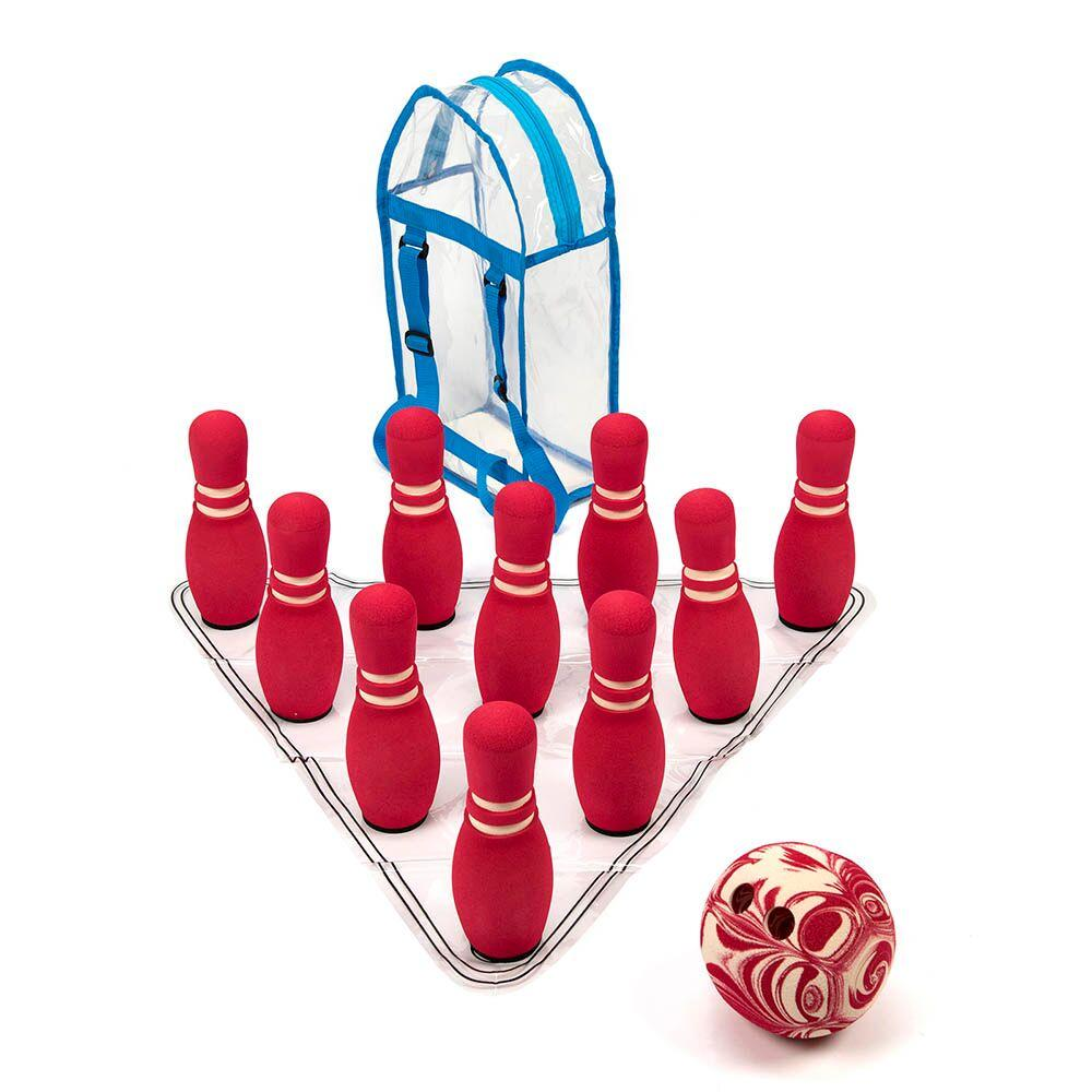 Super Soft Foam Bowling Set 10 Pins and 20cm Ball