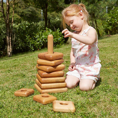 Giant Square Wooden Stacking Pyramid