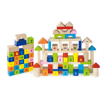 100pc Block Set Alphabet & Numbers