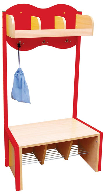 Cloud Cloakroom with 3 Hooks - Red