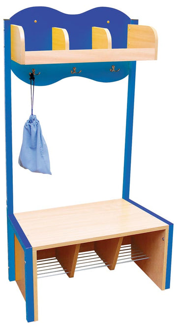 Cloud Cloakroom with 3 Hooks  - Blue