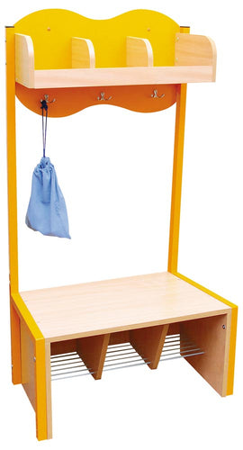 Cloud Cloakroom with 3 Hooks - Orange