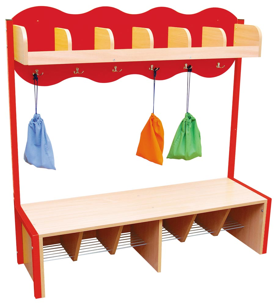 Cloud Cloakroom with 6 Hooks - Red