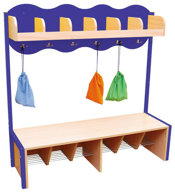 Cloud Cloakroom with 6 Hooks - Blue
