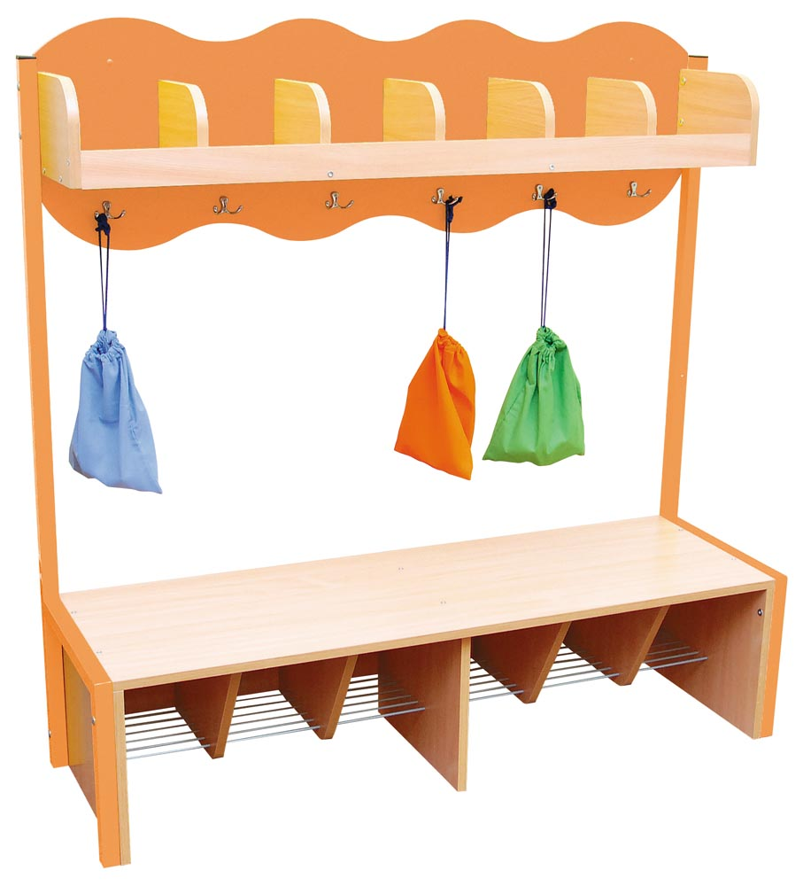 Cloud Cloakroom with 6 Hooks - Orange