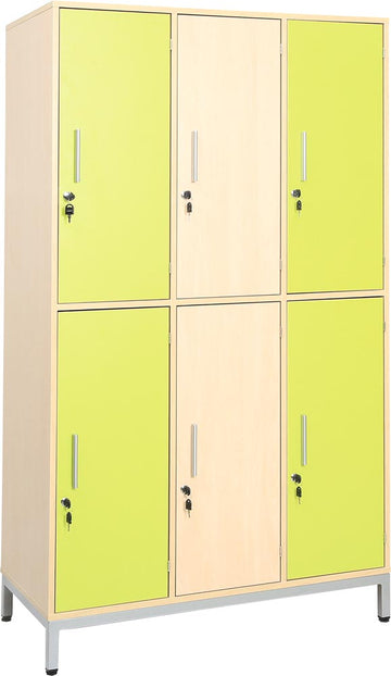 Locker Unit with 6 Metal Shelves with Doors