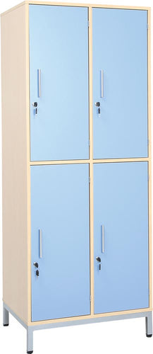 Locker Unit with 4 Metal Shelves