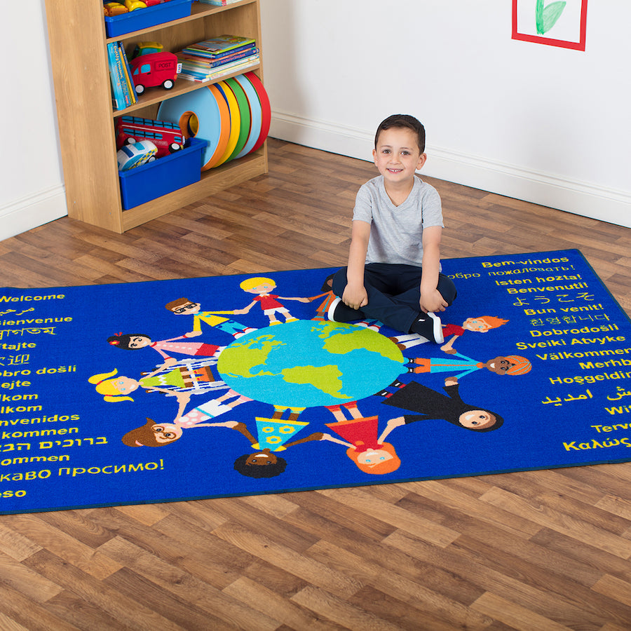 Multicultural Welcome Floor Mat