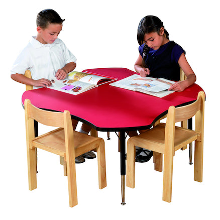 Adjustable Clover Table All Colours 43cm -63.5cm