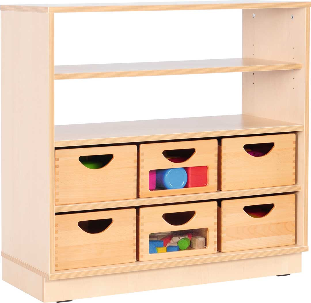 M Cabinet Half Open 3 shelves with castors