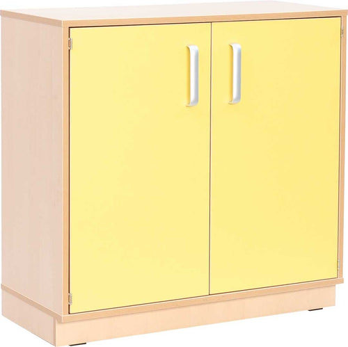M Cabinet with Doors Red - Plinth base