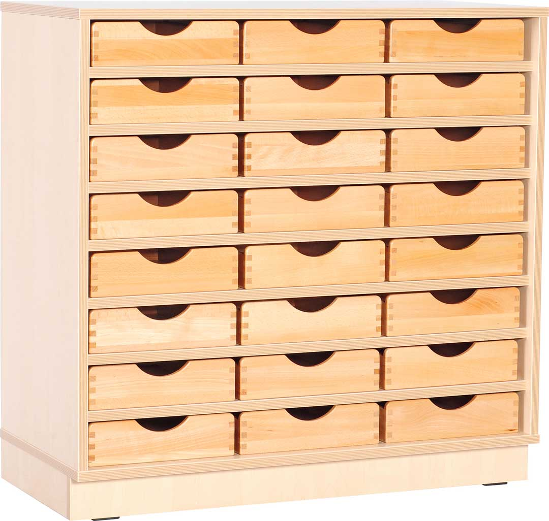 M Cabinet with 7 Shelves with Plinth