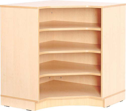 Corner M cabinet with plinth, internal