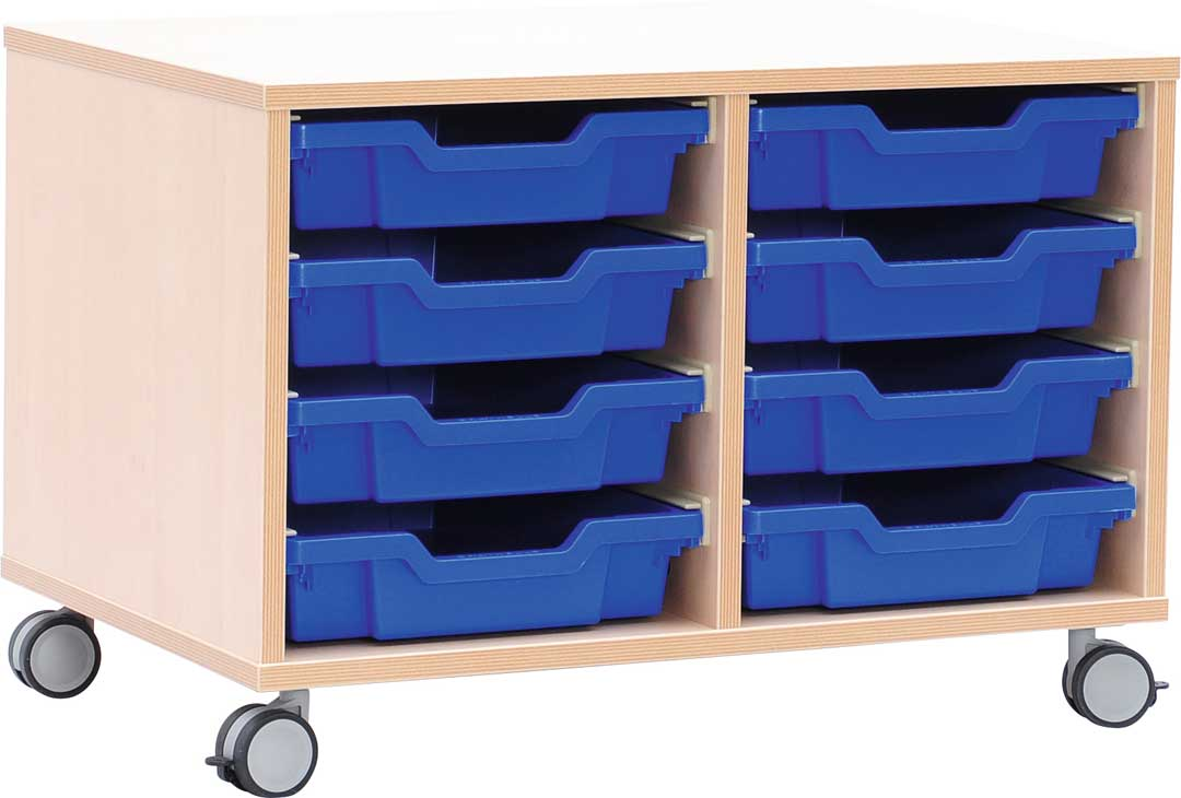 S Cabinet Small for Plastic Containers with Castors
