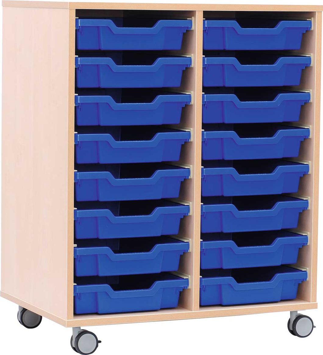 M Cabinets for Plastic Containers 2 Rows with Castors