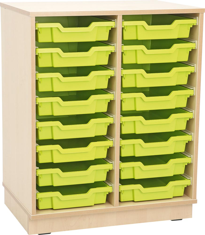 M cabinets for Plastic Containers 2 Rows  with Plinth