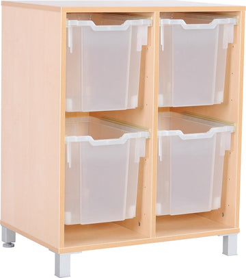 M Cabinets for Plastic Containers 2 Rows with Legs