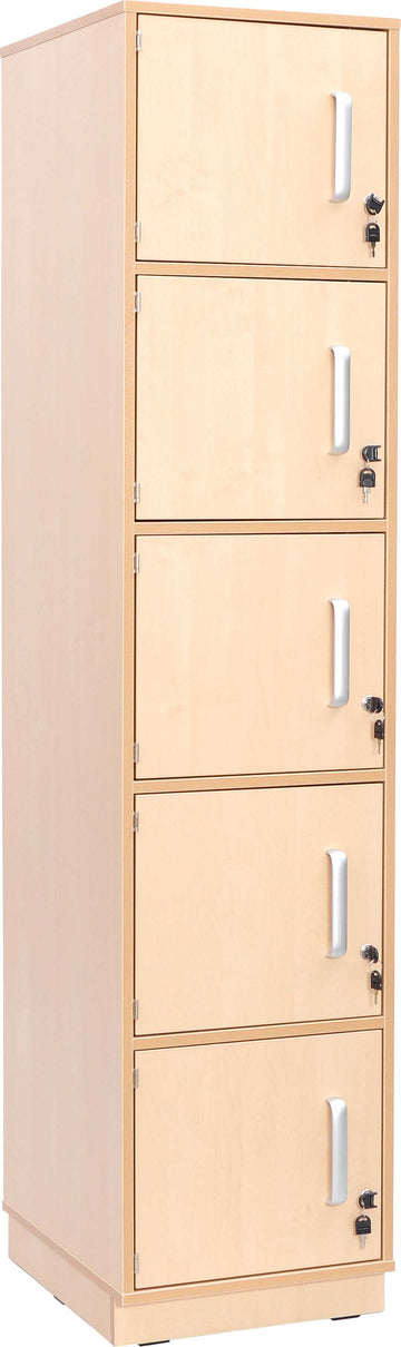 Locker with 5 compartments