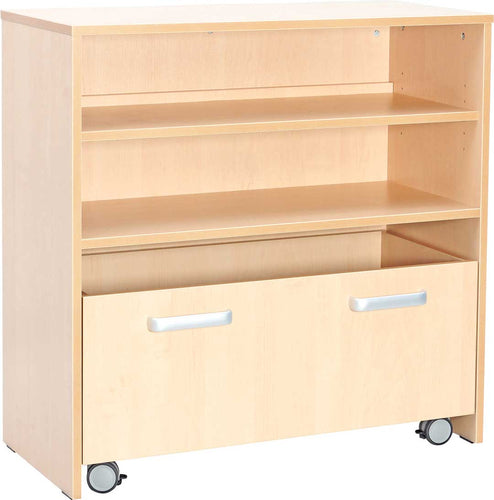 M Cabinet with 1 Shelf and Container with Wheels