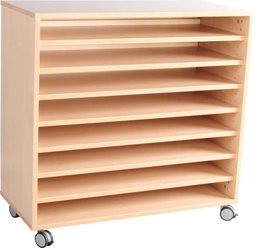 M Cabinet with 7 Shelves on castors