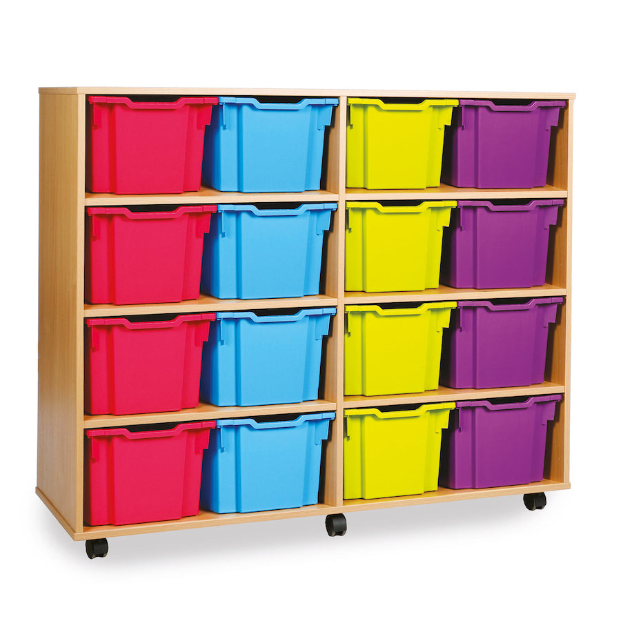 16 Extra Deep Tray Storage Units  for classroom storage