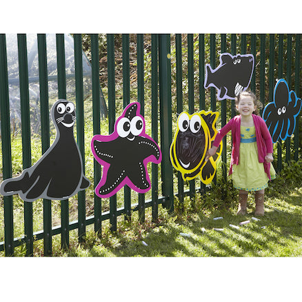 Outdoor Mark Making Chalkboards 5pk