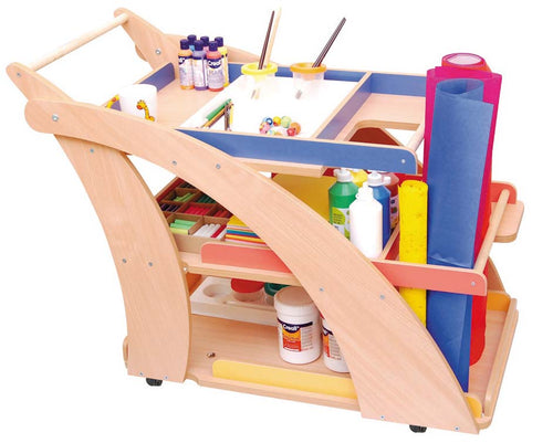 arts and crafts trolley