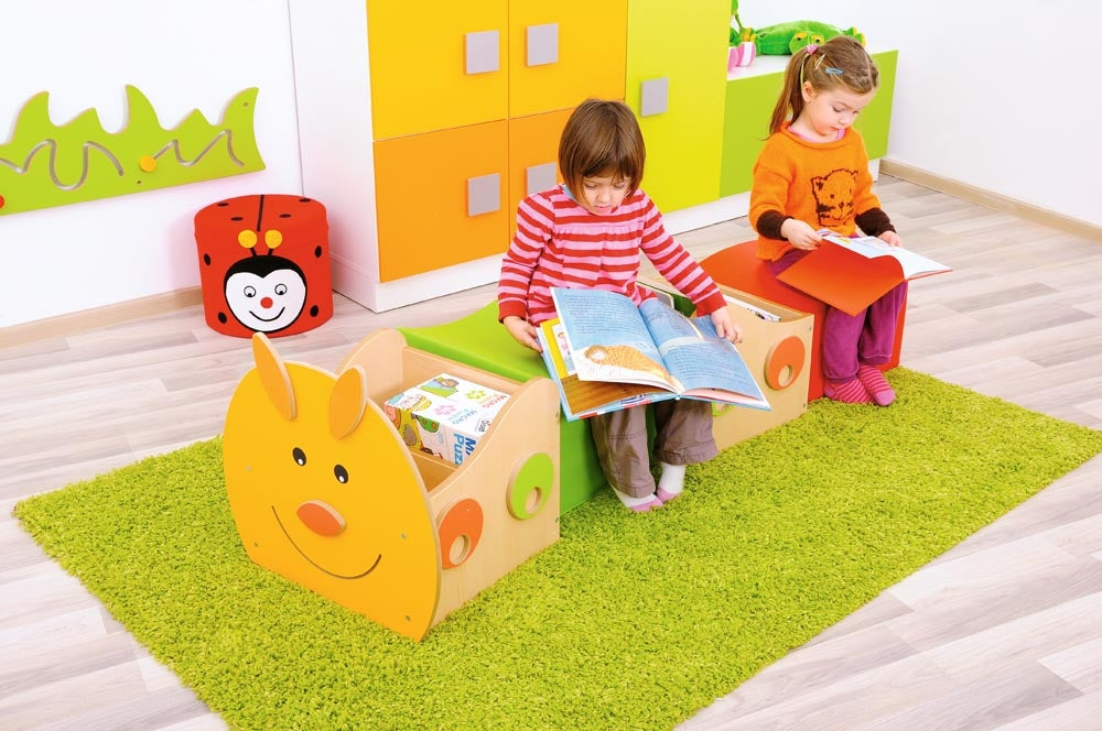 Caterpillar Book Storage and Soft Seating Unit